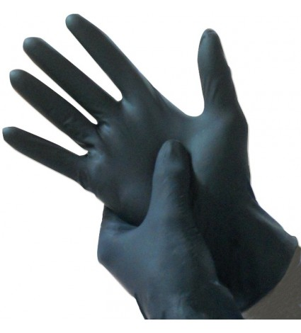 Black Disposable Tattoo Gloves - Small